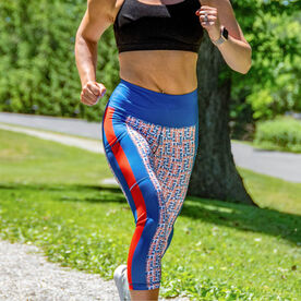 Women's Performance Capris - Land That I Run