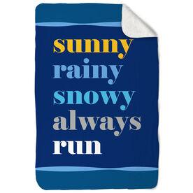 Running Sherpa Fleece Blanket - Weather Mantra
