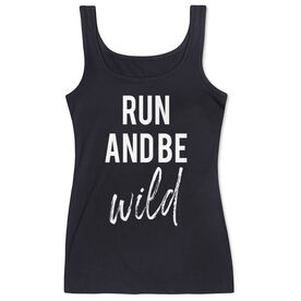 Women's Athletic Tank Top - Run And Be Wild