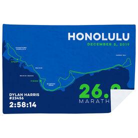 Running Premium Blanket - Honolulu 26.2 Route