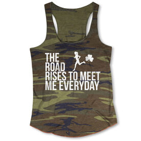 Running Camouflage Racerback Tank Top - The Road Rises