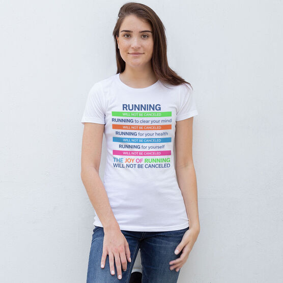 Women's Everyday Runners Tee - The Joy of Running Will Not Be Canceled