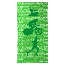 Triathlon Beach Towel Swim Bike Run Inspiration Male