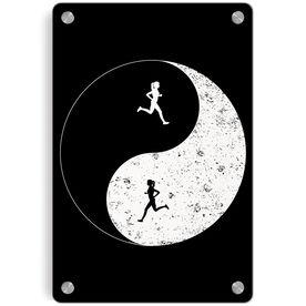 Running Metal Wall Art Panel - Runner Girl Yin Yang