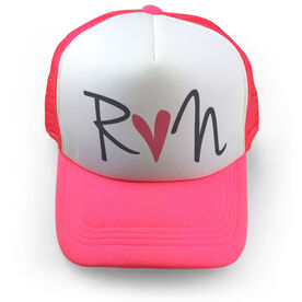 Running Trucker Hat Run Heart