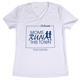 Women's Running Short Sleeve Tech Tee - Moms Run This Town Colorado Runner