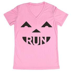 Women's Running Short Sleeve Tech Tee Pumpkin Run