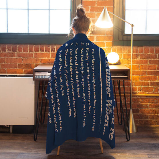 Running Premium Blanket - You Know You're A Runner When