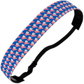 Running Julibands No-Slip Headbands - Flying Pigs Pattern