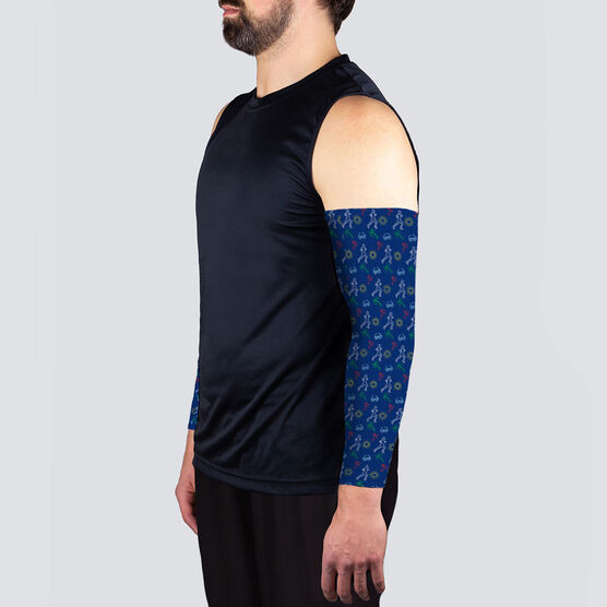 Running Printed Arm Sleeves - Tropical Male Runner