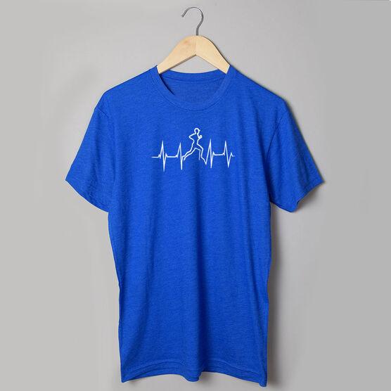 Running Short Sleeve T-Shirt - Heart Beat Male Runner