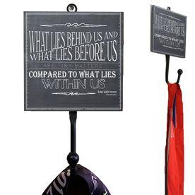 Medal Hook Chalkboard What Lies Behind Us