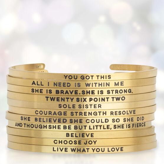 InspireME Cuff Bracelet - She Is Brave