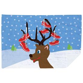 Running Premium Blanket - Reindeer Running Shoes