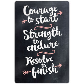 "Running 18"" X 12"" Wall Art - Chalkboard Courage To Start"