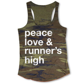 Running Camouflage Racerback Tank Top - Peace Love & Runner's High