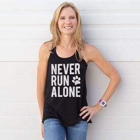 Flowy Racerback Tank Top - Never Run Alone (Bold)
