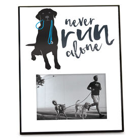 Running Personalized Photo Frame - Never Run Alone