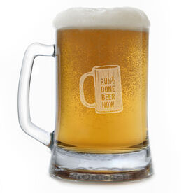 Run Done Beer Now 15oz Beer Mug