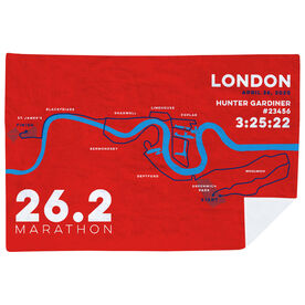 Running Premium Blanket - Personalized London Map