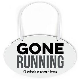 Running Oval Sign - Gone Running (Dry Erase)