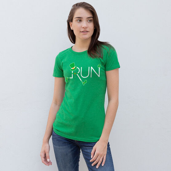 Running Women's Everyday Tee - Let's Run Lucky