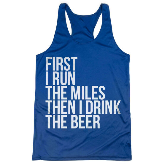 Women's Racerback Performance Tank Top - Then I Drink The Beer