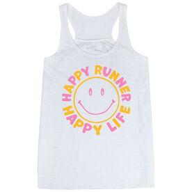 Flowy Racerback Tank Top - Happy Runner Happy Life