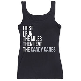 Women's Athletic Tank Top - Then I Eat The Candy Canes