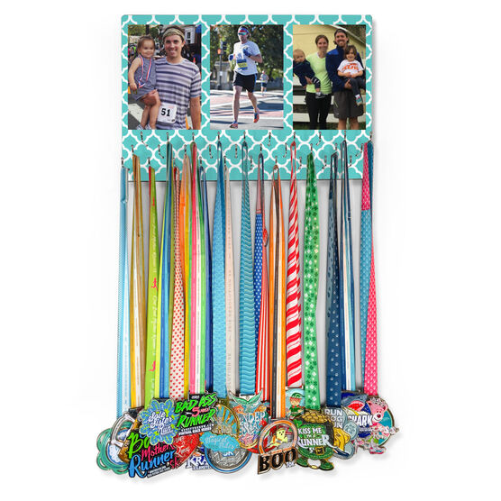 Running Large Hooked on Medals Hanger - Custom Photos