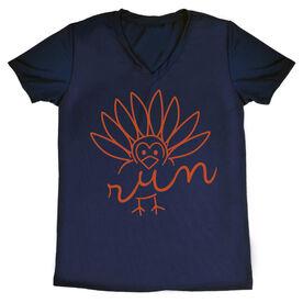 Women's Running Short Sleeve Tech Tee - Turkey Run
