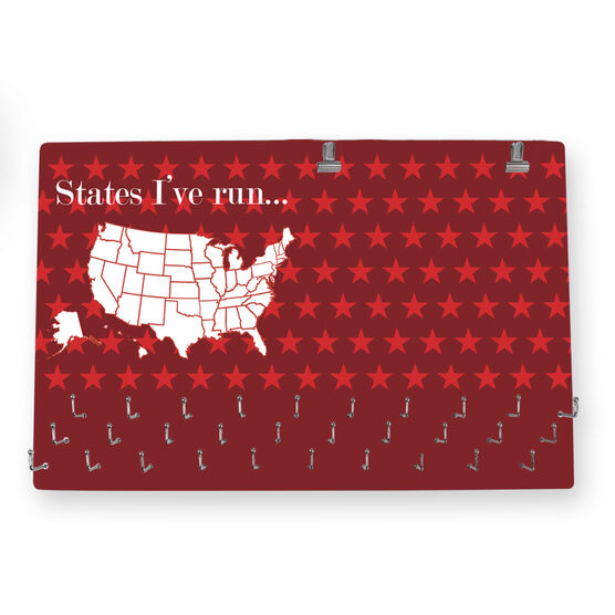 Run Usa Map.Running Large Hooked On Medals And Bib Hanger Running The Usa Map