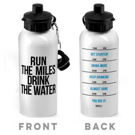 Running 20 oz. Stainless Steel Water Bottle - Run The Miles Drink The Water
