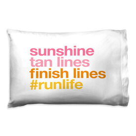 Running Pillow Case - Sunshine Tan Lines Finish Lines