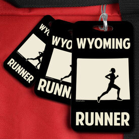 Bag/Luggage Tag Wyoming State Runner Female