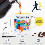Soleil Home™ Running Porcelain Mug - States That I've Run