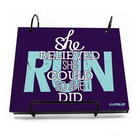 BibFOLIO® Race Bib Album - She Believed She Could