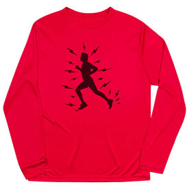Men's Running Long Sleeve Tech Tee - Lightning Runner