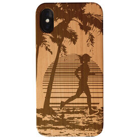 Running Engraved Wood IPhone® Case - Find Lost Female Silhouette