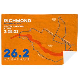 Running Premium Blanket - Personalized Richmond Map