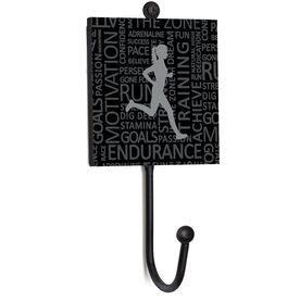 Running Medal Hook - Inspirational Words Female