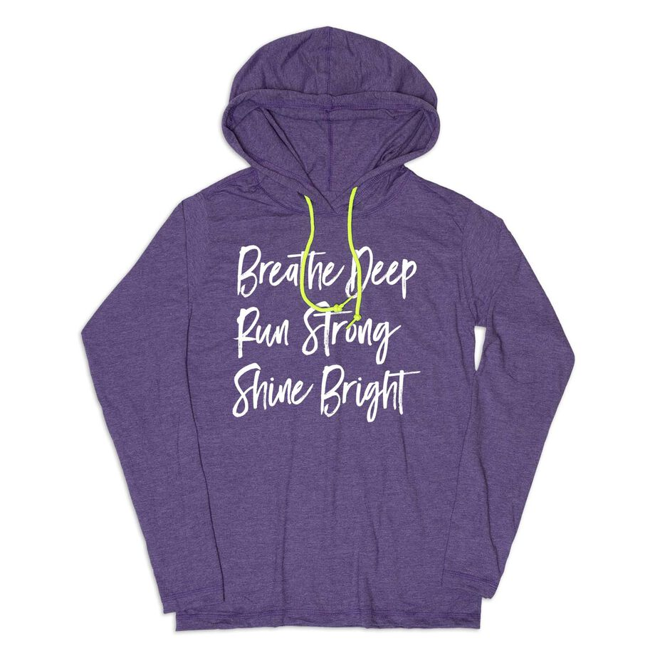 Women's Running Lightweight Hoodie - Breathe Deep Run Strong