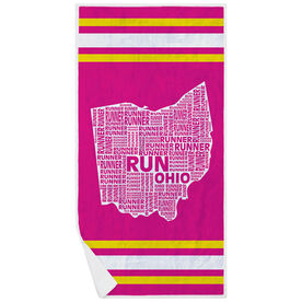 Running Premium Beach Towel - Ohio State Runner
