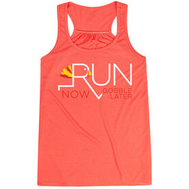 Flowy Racerback Tank Top - Let's Run Now Gobble Later