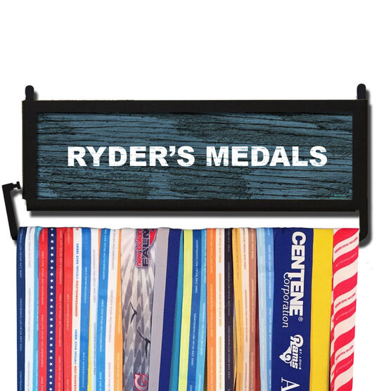 RunnersWALL Rustic Custom Text Medal Display