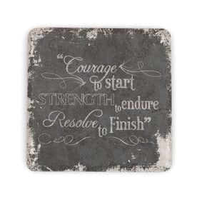 Running Stone Coaster Courage To Start