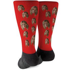 Printed Mid-Calf Socks - Custom Face