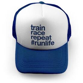 Running Trucker Hat - Train Race Repeat