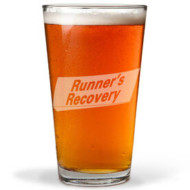 Runners Recovery 16 oz Beer Pint Glass