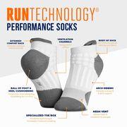 RunTechnology® Performance Socks (White)